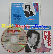 CD PAT BOONE LOVE LETTERS IN THE SAND 1991 ALPHARECORD NO lp mc dvd vhs