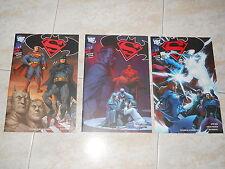 LOTTO SUPERMAN/BATMAN 1-2-3  PRIMA SERIE PLANETA DEAGOSTINI