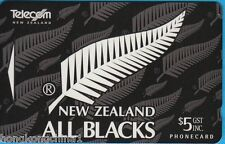 New Zealand 95 Rugby All Black phonecard international issue NZ137055