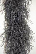 "4 Ply OSTRICH FEATHER BOA - DARK GRAY 2 Yards; Costumes/Craft/Bridal/Trim 72"""