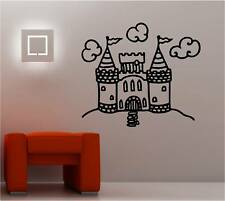 PRINCESS CASTLE wall art sticker vinyl BEDROOM KIDS