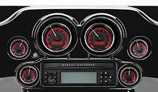 Dakota Digital - MVX-8200-KR-C - 2 gauge Speedo/Tach Kit - Black/Red/Chr - 97-03