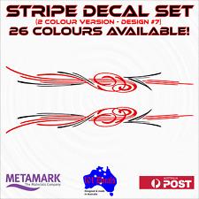 30cm STRIPE #7,2 colour Car,ute,caravan,boat marine pinstripe decal sticker set!