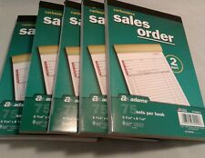 5 pk Sales/Invoice Order Book Carbonless 2 part 75 sets ea. Adams Numbered Pages
