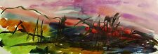 Landscape Original WATERCOLOR Painting JMW art John Williams Impressionism