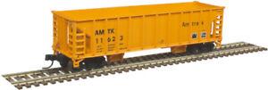 Atlas N Scale 41' Ballast Hopper 3-Pack Amtrak (Orange/Black) #11605/11612/11623