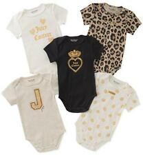 Juicy Couture Infant Girls 5pk Bodysuits Size 0/3M 3/6M 6/9M $48