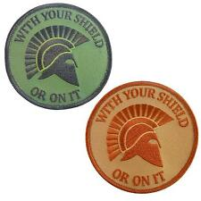 set of 2 spartan helmet touch fastener patches morale patch seal team WITH YOUR