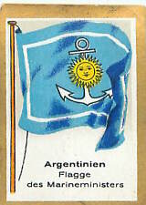 Argentina Ministry of the Navy FLAG DRAPEAU CARD 30s