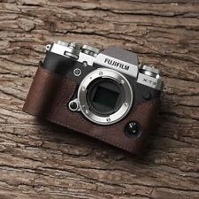 Genuine Leather Half Camera Case Bag Bottom Cover For Fuji Fujifilm XT3 Handmade