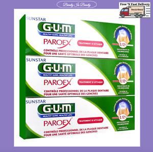 Gum Paroex Gel Toothpaste 0.12% Chlorhexidine Pharmaceutical 3 x 75ml New