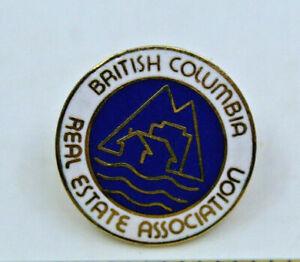British Columbia Real Estate Association BCREA Collectible Pin Pinback Button