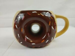 TAG Sprinkled Brown Frosted Donut 16oz Ceramic Coffee Tea Cocoa Mug