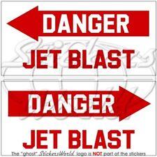 DANGER JET BLAST Luftwaffe RAF Hubschrauber Aircraft Aufkleber 100mm Stickers x2