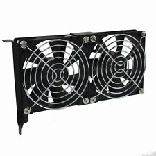PCI Slot VGA Graphics Card Cooler Fan Holder with two Slim 90mm Cooling Fans