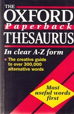 The Oxford Paperback Thesaurus - Oxford - Acceptable - Paperback