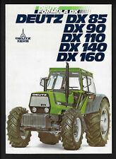 DEUTZ DX85/A-DX90/A-DX110/A-DX140/A-DX160/A TRACTORS 18 PAGE BROCHURE