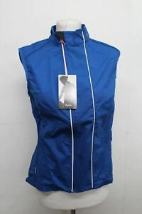 RAPHA Ladies Blue Sleeveless Cycling Full Zip Lightweight Gilet Large NEW