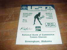 1987 USTA Challenger Series Tennis Program Birmingham Alabama