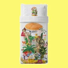 IKEA Stunsig Twin Duvet Cover Set Burger Hawaiian Kitsch Dorm Pin-Up Tropical NW