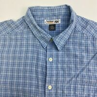 Urban Pipeline Button Up Shirt Mens XXL Blue Check Short Sleeve Casual