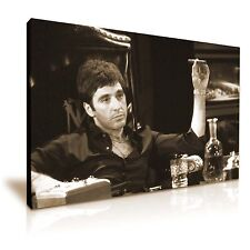 Scarface Tony Montana LONA pared arte Foto impresión 76x50cm Color Sepia