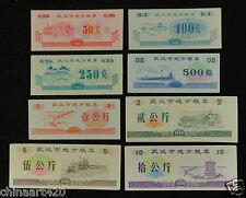 China Wuhan cupones la ciudad un conjunto de 6 piezas 1989 casi universal