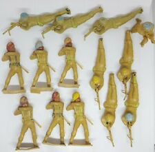 Rare Cherilea British Indian Army Plastic Toy Soldiers X 14