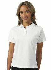Camicia polo da donna a manica corta in bianco