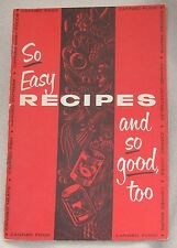 So Easy Recipes Canned Jar Baby Food Soup Vegetables Fish Meat Cook Book Booklet