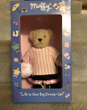 2001 Vintage Muffy Vanderbear in bear pink soccer dress up set - Nib unopened