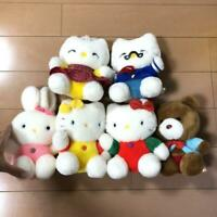 Vintage 1992s Sanrio Hello Kitty Plushy Plush doll Toy Japan 6set Rare Kawaii