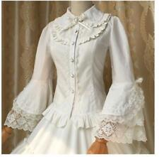 Princess Retro Lace Flare Sleeve Shirt Blouse Vintage Victorian Lolita Gothic A+