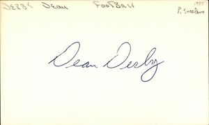 Dean Derby Signed Index Card 3x5 Autographed Steelers Vikings 69035