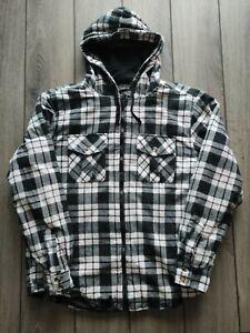 Men's Vintage U. S. Plaid Multicolour Padded Lumberjack Jacket Size M