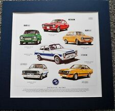 Ford Escort RS MK 1 & II Stunning Artwork Print Mexico/RS1600/RS2000