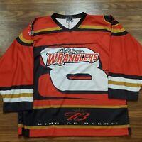 Las Vegas Wranglers racing hockey jersey #8 Earnhardt Budweiser ECHL Large