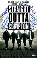 "Straight Outta Compton Staring 5 Signed 12"" x 18"" Movie Poster - PSA/DNA"