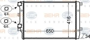 Hella Radiator 8MK 376 726-704 fits Audi A3 1.4 TFSI (8PA) 92kw, 1.8 TFSI (8P...