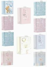 Medium Baby Shower / New Baby Gift Bags Pink Blue Boys Girls Bear Bunny Animal