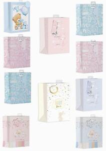 Medium Baby Shower / New Baby Gift Bags Pink Blue Boys Girls Bear Bunny Animal
