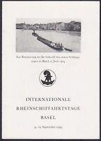 Suisse mi No. 595 4er Bloc Sst Rhein Schiffahrtstage Bâle Superbe Carte Pliante