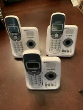 3 Vtech Cordless Phones With Caller ID & Digital Answering Machine (CS6124)