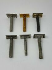 6 Vintage Gillette Safety Razors