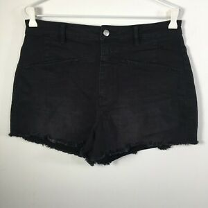 "sass & bide Womens Shorts Size 31 Black the circus ball Frayed Cotton Blend W32"""