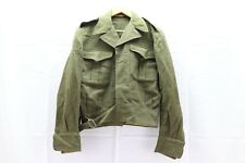 Canadian Wool od Battle blouse Jacket with build in belt size 10 M9747