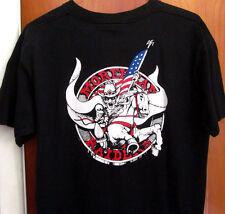 MOREHEAD RAIDERS mascot lrg T shirt OHIO black tee middle-school Haskins USA