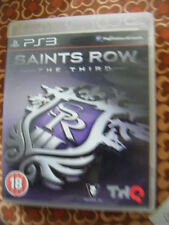 Saints Row: The Third (Sony PlayStation 3, 2011) with BOOKLET - VG