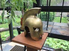 Vintage Brass Greek Crested Helmet Warrior HEAVY Spartan Roman Hoplite 300 GOT