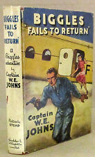 Biggles Fails to Return W E Johns 3rd Impression HCDJ 1950  29th Biggles  Good